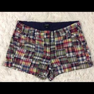 J Crew Classic Preppy Patchwork Plaid Shorts
